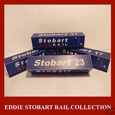 Eddie Stobart Rail Model Shipping Container Card Kit Stobart x 4 HO Gauge 1:87