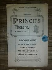 1926 Princes Theatre Manchester: Irene Vanbrugh in ALL THE KING'S HORSES