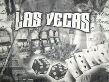 Las Vegas Nevada NV Gambling Casino Poker White Graphic Print T Shirt XL