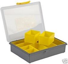 PLASTIC 8 COMPARTMENT STORAGE BOX CRAFT FISHING SCREWS CRIMPS JEWELLERY