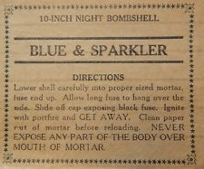 Hitt Fireworks Company Seattle, WA Blue & Sparkler Label