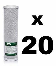 "20 x CARBON BLOCK FILTER FOR REVERSE OSMOSIS UNITS, 10"",RO,WATER FILTER WWBH"