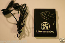 RARE LOWENBRAU POCKET RADIO LS38 FM RECEIVER PROMNAL ADVERTISING