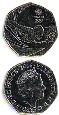 GREAT BRITAIN/UNITED KINGDOM 50 Pence 2016 UNC 'Team GB Rio 2016 Olympic Games'