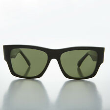 Big Black Square Thick Wayfarer Nomad Style Vintage Sunglass NOS Green -FREDDY