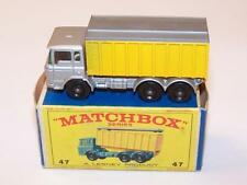 Matchbox-(1-75) #47c - DAF Container Truck - Silver - A/B