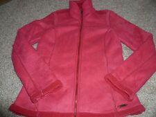 schöne Damen Übergagnsjacke Jacke mit Stehkragen Fleecejacke Gr. M 38 rot SOCCX