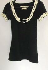 Wheels and Doll Baby T-top Size 3 Black Ruffles Stretchy