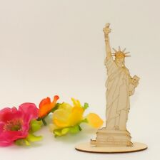 14cm Freiheitsstatue New York Miss Liberty Holz Statur Dekoration USA Souvenier
