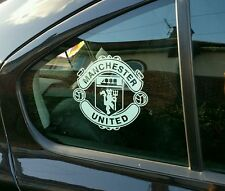"Manchester United 6""car window internal White vinyl sticker End of Season Sale"
