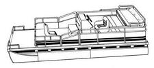 7oz STYLED TO FIT BOAT COVER JC PONTOONS TRITOON 226 2001-2007