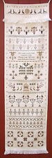 10% Carriage House Samplings X-stitch chart-Elizabeth Minnich's Decorated Towel