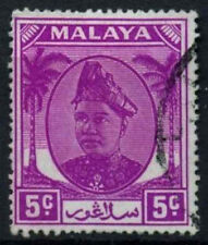 Malaya Selangor 1949-55 SG#94a, 5c Bright Mauve Sultan Used #D28904