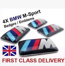 4x BMW M-Sport Aleación Rueda Insignia emblemas E46 E60 1 3 5 M3 Serie M Performance