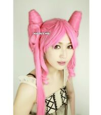 Sailor Moon Chibi Usa dark lady pink styled cosplay wig 130cm long curly tails