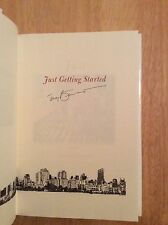 SIGNED - Tony Bennett - Just Getting Started Hardcover 1st