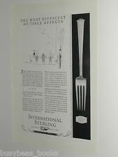 1924 International Silver advertisement page for Sterling THESEUM Design Fork