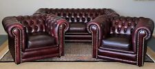 DIVINE 3 PIECE CHESTERFIELD SUITE SOFA LOUNGE COUCH ARMCHAIR TUB ARM CHAIRS