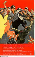 Political cuban POSTER.NORTH KOREA kick ARMY SOLDIER 22.Revolution Art Design