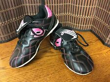 Lotto kid girl's soccer cleats size 13 black white pink sports  F17