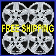 "4 New CHROME 16"" Hub Caps Full Wheel Covers Rim Cover Hubs 5 bolt snap on  431c"