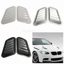 2pc Universal Car Decorative Air Flow Intake Scoop Bonnet Side Fender Vent Hood
