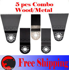 5 Pcs Oscillating MultiTool Saw For Blade Bosch Dremel Fein Multimaster  Nextec