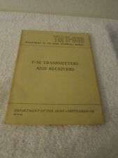 Department Of The Army Technical Manual TM 11-668 FM Transmitters And Receivers