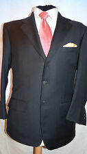 LORO PIANA BESPOKE TAILORED 120's NAVY BUSINESS/SPORTS JACKET UK 40's EU 50's