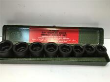 "9pc Lot Japan  3/4"" Sq. Drive Socket Set 1"" - 1-1/2"" in Steel Case IS-68"