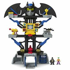 NEW Fisher Price Imaginext Bat Cave Batman Playset Joker Figurine Toys Lights Up