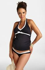 Pez D'Or Maternity Tankini Top & Bottoms Black Size XL