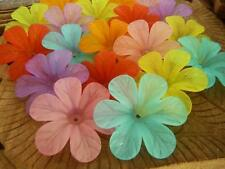 20 pce Colour Mix Large Frosted Acrylic Hibiscus Flower Beads 33mm
