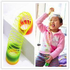 GRAU Colorful Rainbow Plastic Magic Slinky Glow-in-the-dark Children Classic Toy