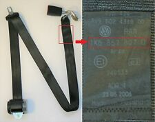 VW Golf Mk5 Seat Belt Rear Middle Lap Belt & buckle Black 1K6 857 807 D