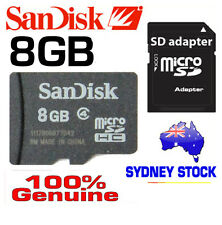 SanDisk Genuine micro SD 8B SDHC class 4,SD adapter, 8G memory card TAX Inv