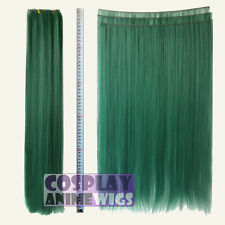 Dark Green Hair Weft Extention (3 pieces) - 60cm High Temp - Cosplay 7_DGE