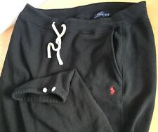 Polo Ralph Lauren Sweatpants Fleece Athletic Men Big & Tall 2XB Black / Red Pony