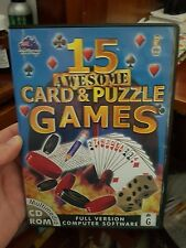 15 Awesome Card & Puzzle Games -  PC GAME - FREE POST
