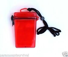 Large Waterproof Storage Container with Lanyard Red Camp Fits Most Smart Phones
