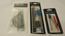 Helix BASIC Stationary/School Set: Pen, Pencils, Metal Compass & Geometry Set