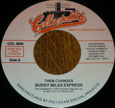 "* * SALE! BUDDY MILES garage-band standard ""THEM CHANGES"": UNPLAYED MINT 45! * *"