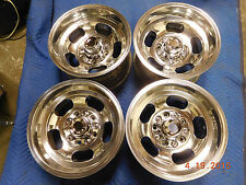 VINTAGE POLISHED 15 x 8.5 SLOT MAG WHEELS FORD TRUCK JEEP 4x4 SAMURI 70's VAN
