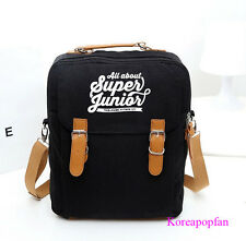 Super Junior superjunior sj canvas schoolbag bag backpack KPOP NEW
