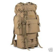 65L Backpack Outdoor Sport Camping Travel Hiking Bag-(Khaki)