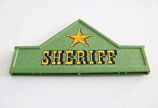 PLAYMOBIL (B3205) WESTERN - Enseigne Verte avec Etoile Sheriff Bureau 3786