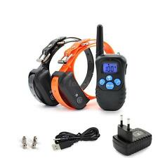 Rechargeable Waterproof Electric Shock Remote Control 2 Dog Training Collar L5YG