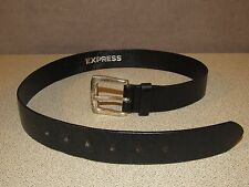 EXPRESS Motorcycle Biker Black Leather Jeans Skirt Belt Women's Size Small