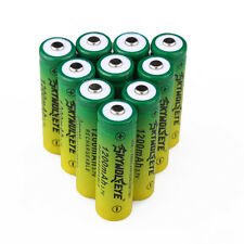 10x SKYWOLFEYE 14500/AA 1200mAH Li-ion Rechargeable Battery For Flishlight Torch