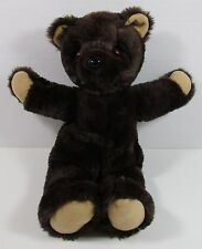 "Snoring Teddy Bear Plush Open Close Eyes 17"" Chest Rises Chocolate Brown"
